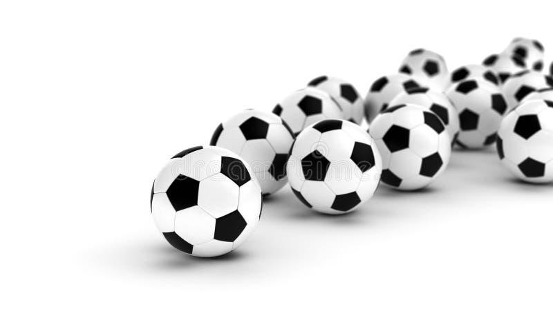 Σφαίρες ποδοσφαίρου διανυσματική απεικόνιση