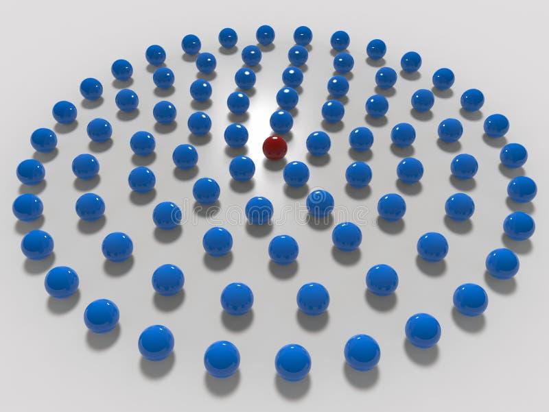 Σφαίρες που τακτοποιούνται σε ένα κυκλικό σχέδιο ελεύθερη απεικόνιση δικαιώματος