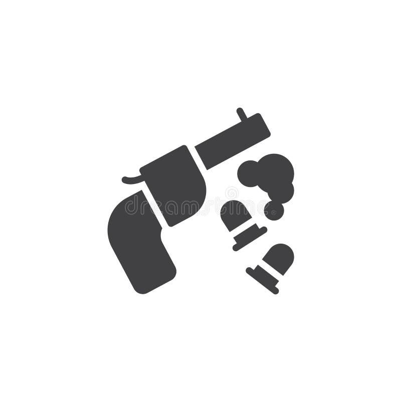 Σφαίρες πυροβόλων όπλων και διανυσματικό εικονίδιο κηλίδων αίματος ελεύθερη απεικόνιση δικαιώματος