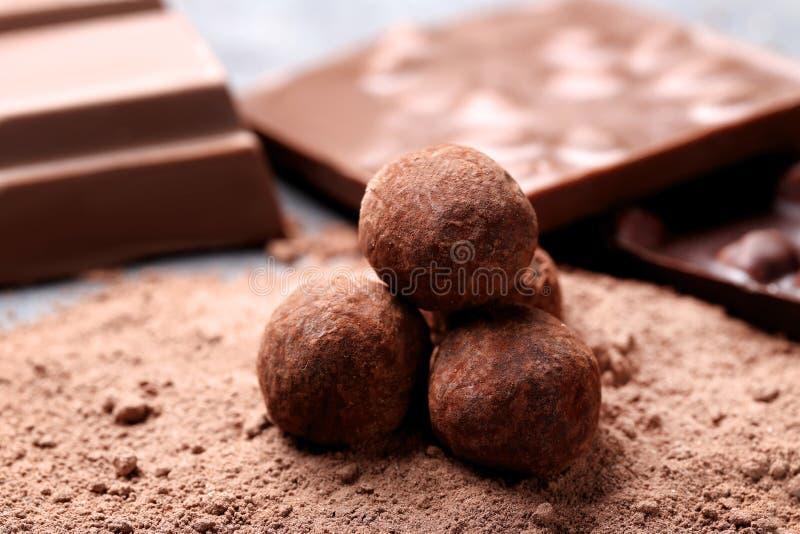 Σφαίρες σοκολάτας στοκ εικόνες