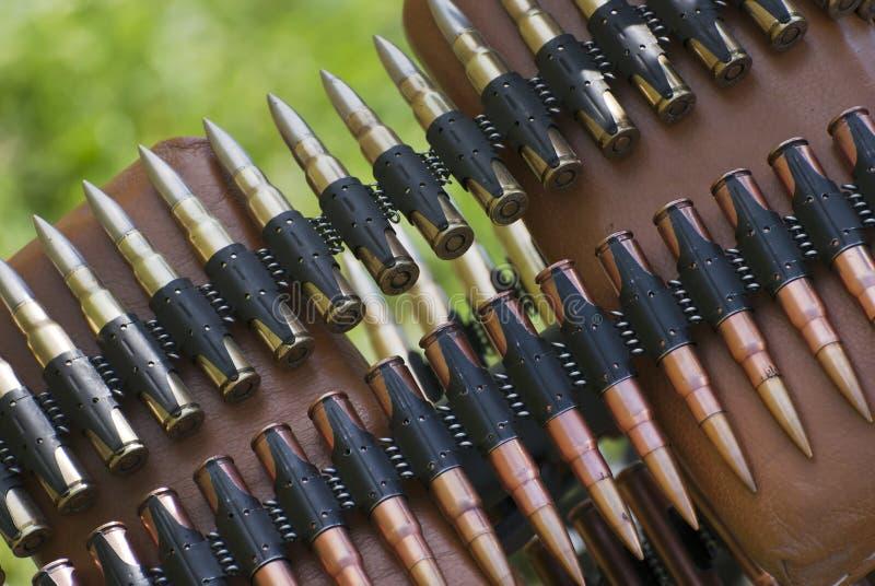 Σφαίρες στη ζώνη πυρομαχικών στοκ εικόνες με δικαίωμα ελεύθερης χρήσης