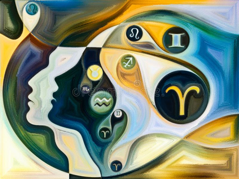 Σφαίρες των εσωτερικών χρωμάτων διανυσματική απεικόνιση