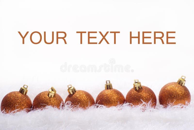 σφαίρες Χριστουγέννων κ&alpha στοκ φωτογραφίες με δικαίωμα ελεύθερης χρήσης