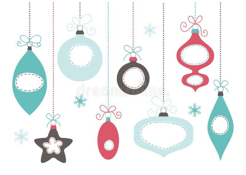 Σφαίρες χριστουγεννιάτικων δέντρων απεικόνιση αποθεμάτων