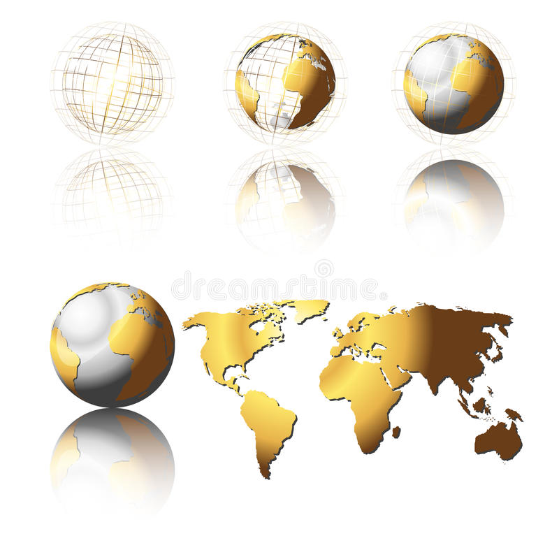 σφαίρες χρυσές ελεύθερη απεικόνιση δικαιώματος