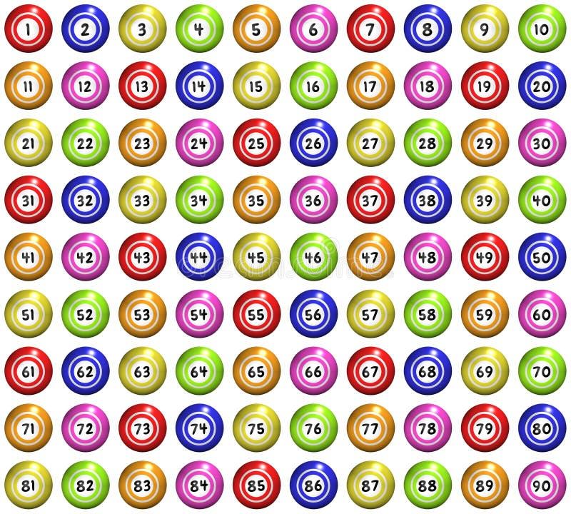 Σφαίρες Bingo διανυσματική απεικόνιση