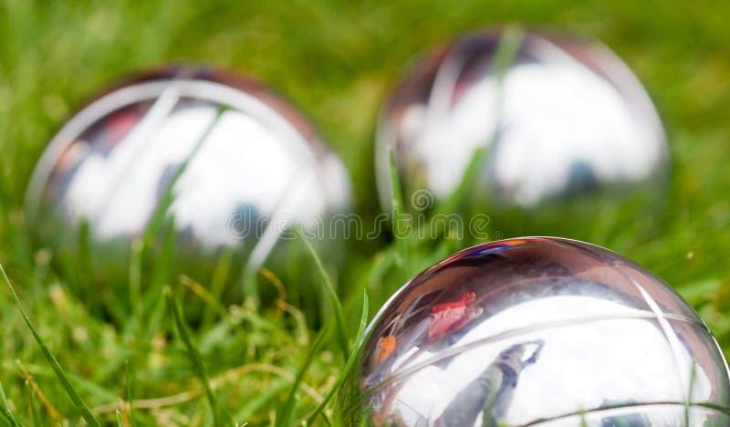σφαίρες petanque στοκ εικόνες