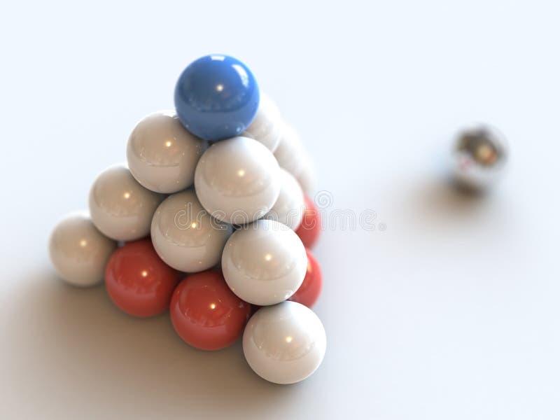 σφαίρες pryamid στοκ φωτογραφία με δικαίωμα ελεύθερης χρήσης