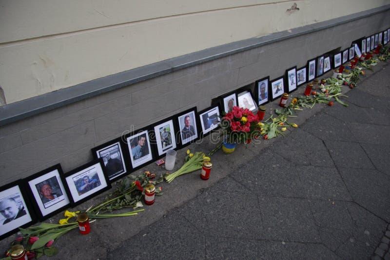 Σφαγή στην πλατεία Maidan, Κίεβο στοκ εικόνα