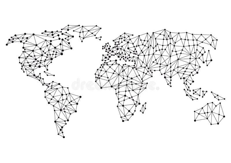 Σφαιρικές ή παγκόσμιες συνδέσεις ελεύθερη απεικόνιση δικαιώματος