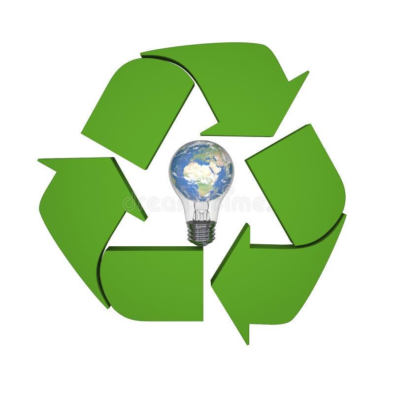 Σφαιρικές ιδέες ανακύκλωσης διανυσματική απεικόνιση