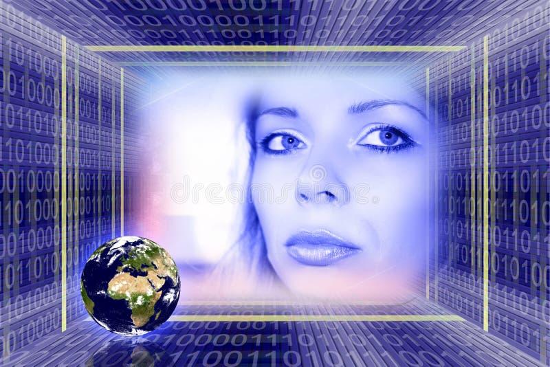 σφαιρικές πληροφορίες technolo στοκ φωτογραφία με δικαίωμα ελεύθερης χρήσης