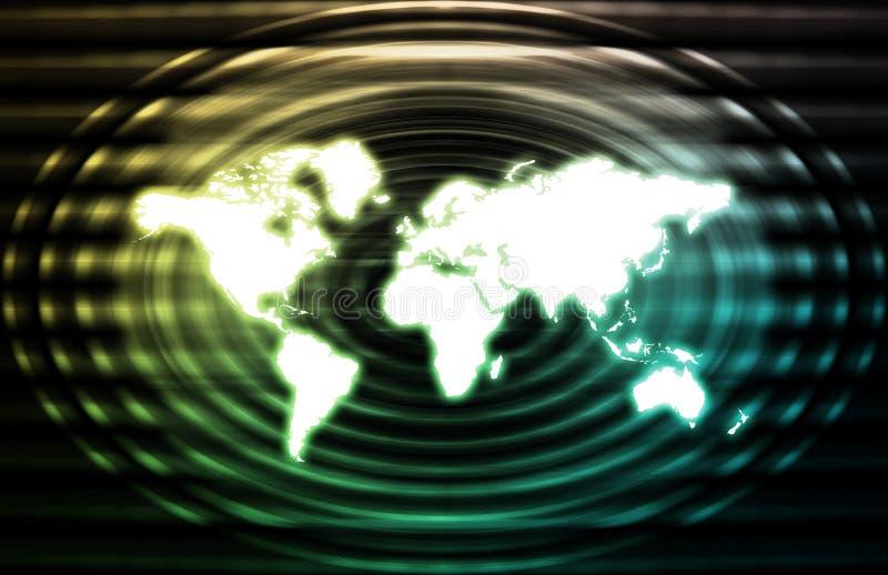 σφαιρικές τηλεπικοινωνίες δικτύων βιομηχανίας ελεύθερη απεικόνιση δικαιώματος