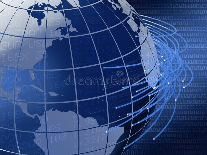 σφαιρικές τηλεπικοινωνί&e διανυσματική απεικόνιση