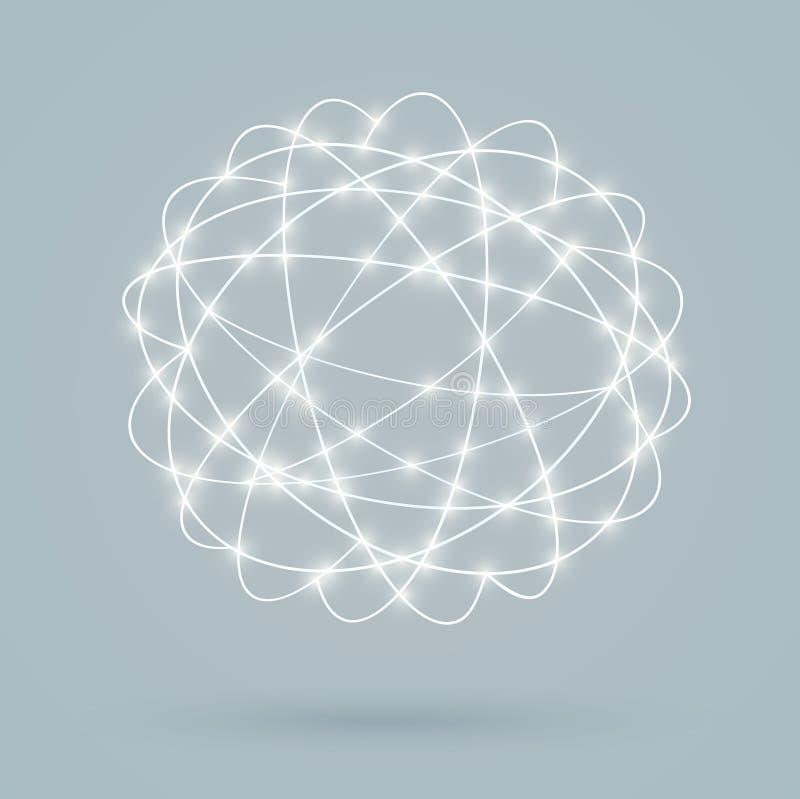 Σφαιρικές ψηφιακές συνδέσεις, δίκτυο διανυσματική απεικόνιση