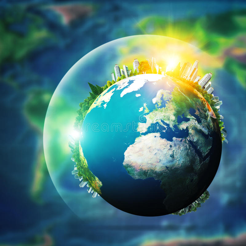 Σφαιρική έννοια βιώσιμης ανάπτυξης στοκ φωτογραφίες