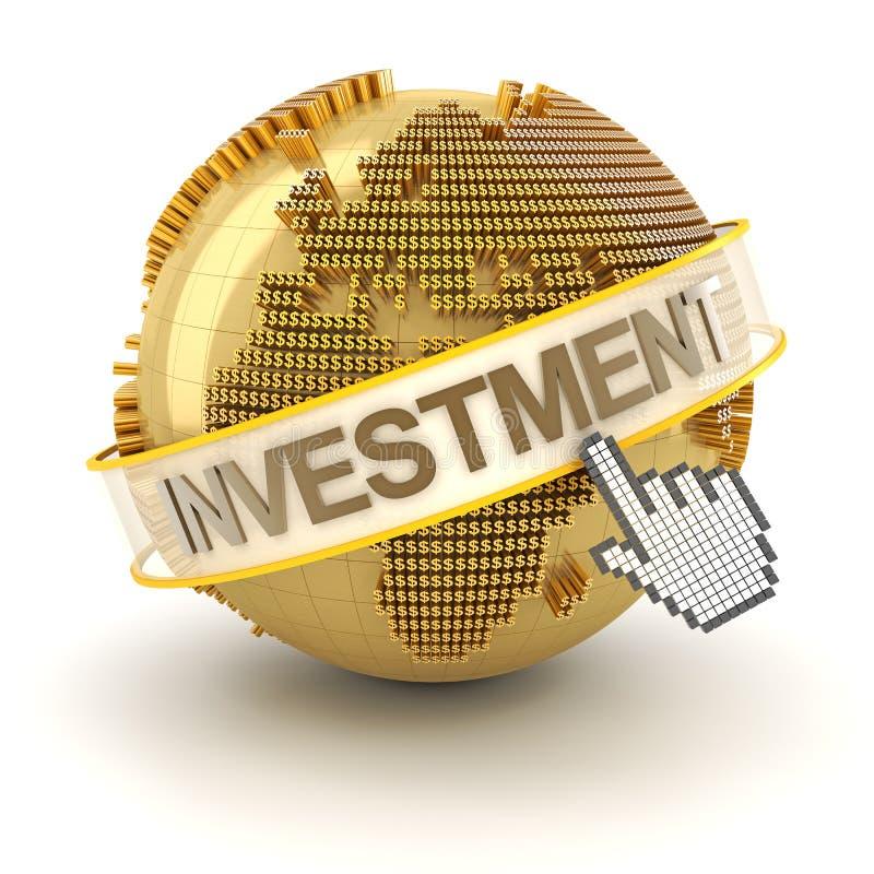 Σφαιρική έννοια επένδυσης, περιοχή της Ευρώπης, τρισδιάστατη διανυσματική απεικόνιση