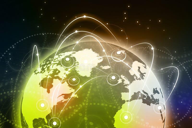Σφαιρική έννοια επιχειρησιακών δικτύων διανυσματική απεικόνιση