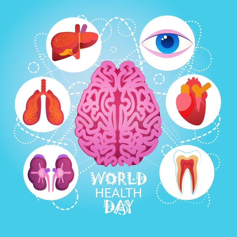 Σφαιρική έννοια διακοπών στις 7 Απριλίου ημέρας παγκόσμιας υγείας διανυσματική απεικόνιση