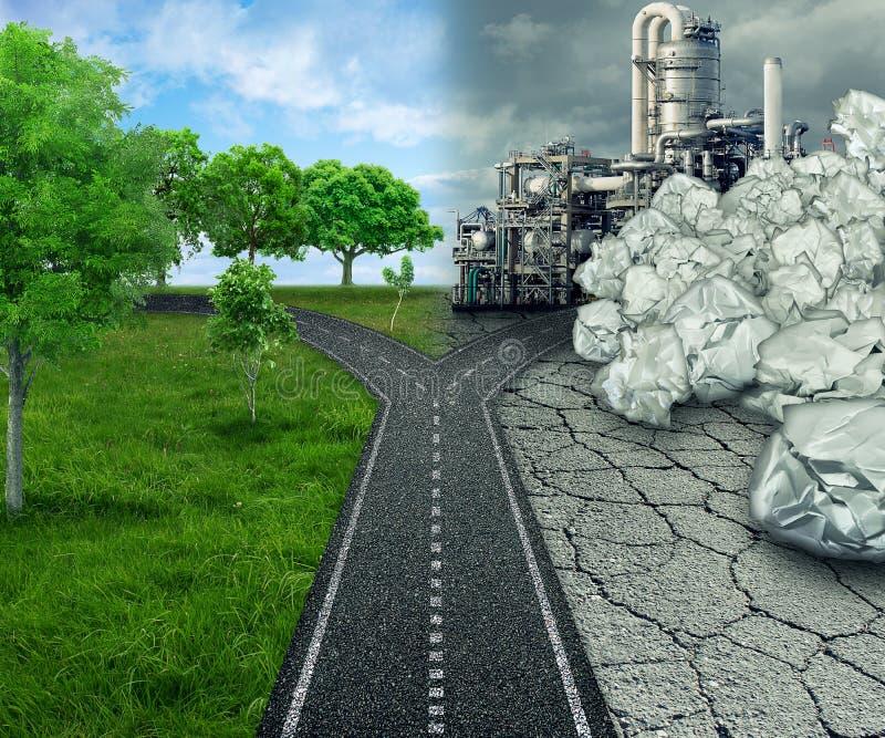 Σφαιρική έννοια οικολογίας επιλογής κλίματος στοκ εικόνα με δικαίωμα ελεύθερης χρήσης