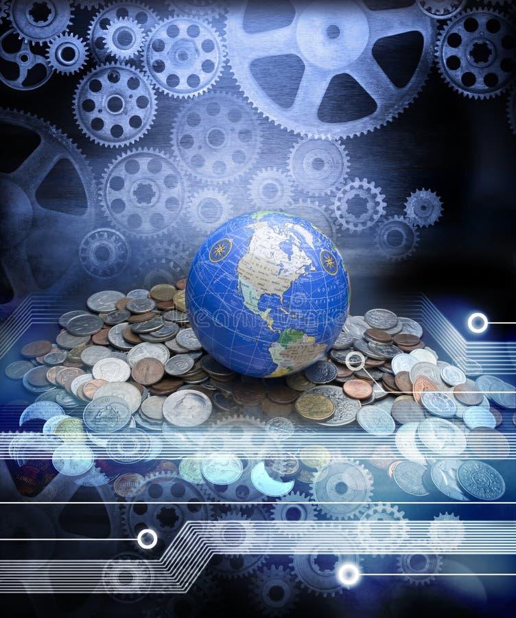Σφαιρική επιχειρησιακή οικονομία χρημάτων ελεύθερη απεικόνιση δικαιώματος
