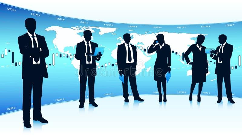 Σφαιρική επιχειρησιακή ομαδική εργασία ελεύθερη απεικόνιση δικαιώματος