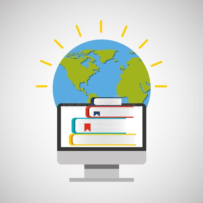 Σφαιρική ε-εκμάθηση εκπαίδευσης on-line απεικόνιση αποθεμάτων