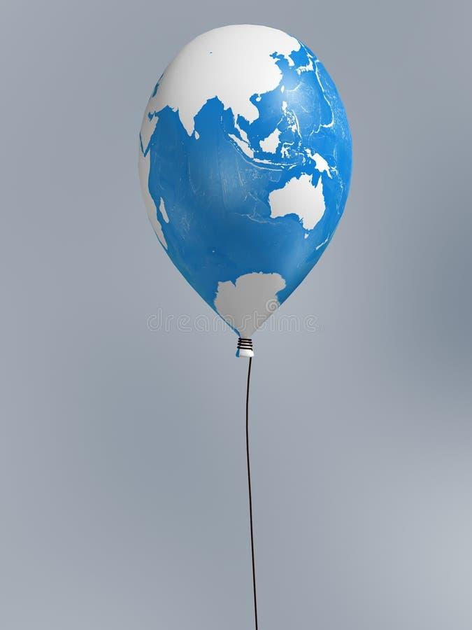 σφαιρικός χάρτης μπαλονιών ελεύθερη απεικόνιση δικαιώματος