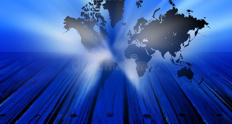 Σφαιρικό έμβλημα τεχνολογίας παγκόσμιων χαρτών Υπόβαθρο επιχειρησιακής τεχνολογίας ελεύθερη απεικόνιση δικαιώματος