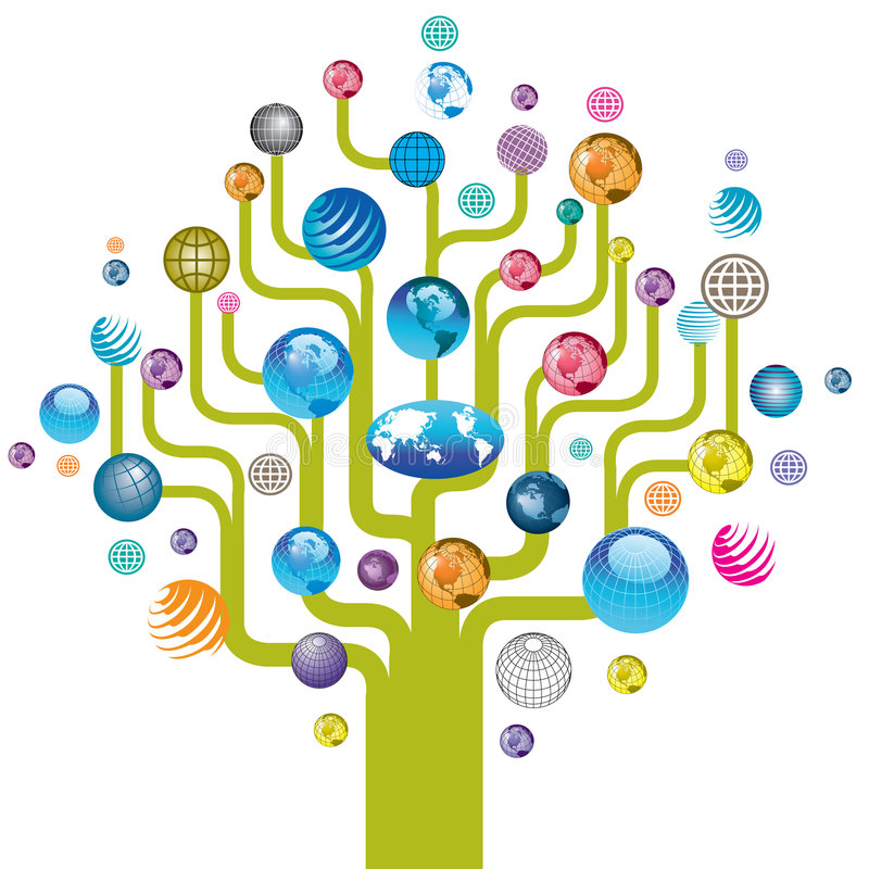 σφαιρικό δέντρο διανυσματική απεικόνιση