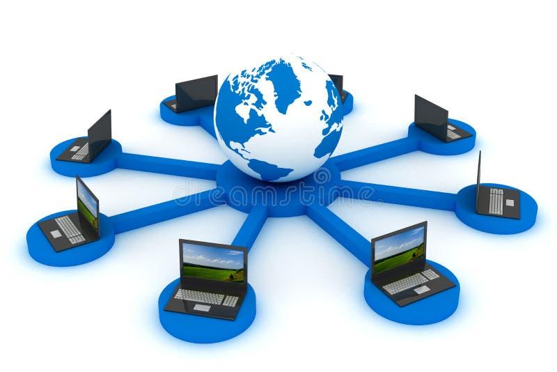 σφαιρικό δίκτυο Ίντερνετ διανυσματική απεικόνιση