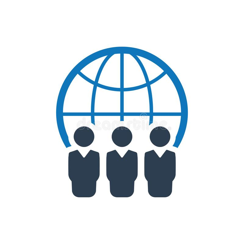 Σφαιρικό εικονίδιο επιχειρησιακής ομάδας ελεύθερη απεικόνιση δικαιώματος