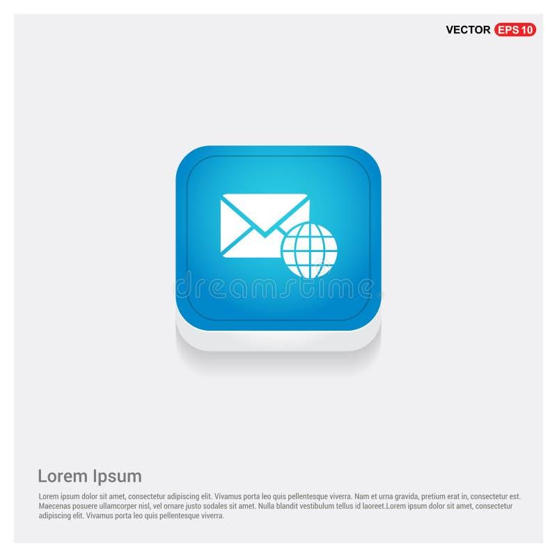 Σφαιρικό εικονίδιο μηνυμάτων ελεύθερη απεικόνιση δικαιώματος