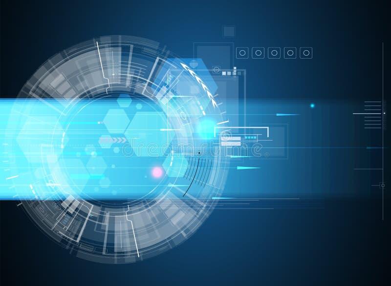 Σφαιρικό επιχειρησιακό υπόβαθρο έννοιας τεχνολογίας υπολογιστών απείρου απεικόνιση αποθεμάτων