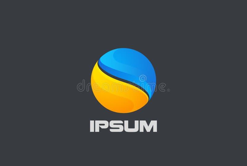 Σφαιρικό επιχειρησιακών σφαιρών διάνυσμα σχεδίου λογότυπων αφηρημένο ελεύθερη απεικόνιση δικαιώματος