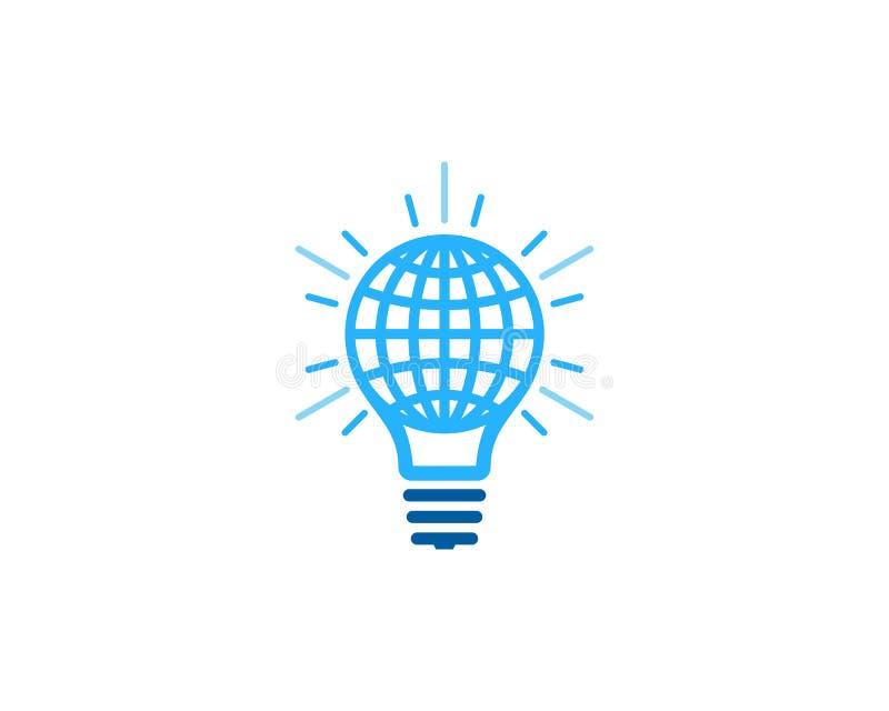 Σφαιρικό διεθνές στοιχείο σχεδίου λογότυπων εικονιδίων ιδέας διανυσματική απεικόνιση