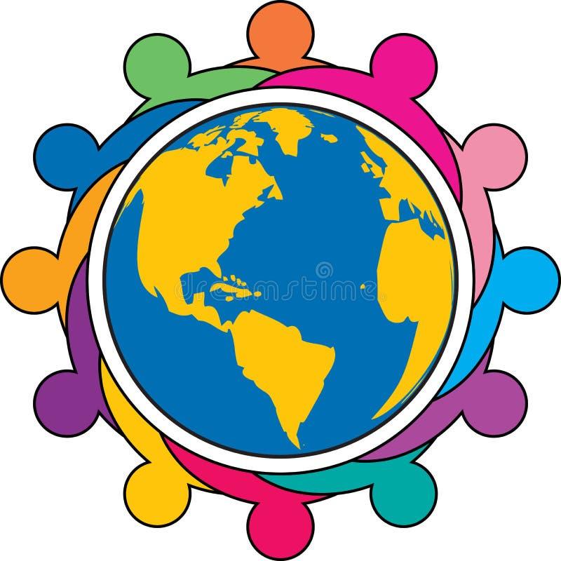 Σφαιρικό λογότυπο ομάδων διανυσματική απεικόνιση