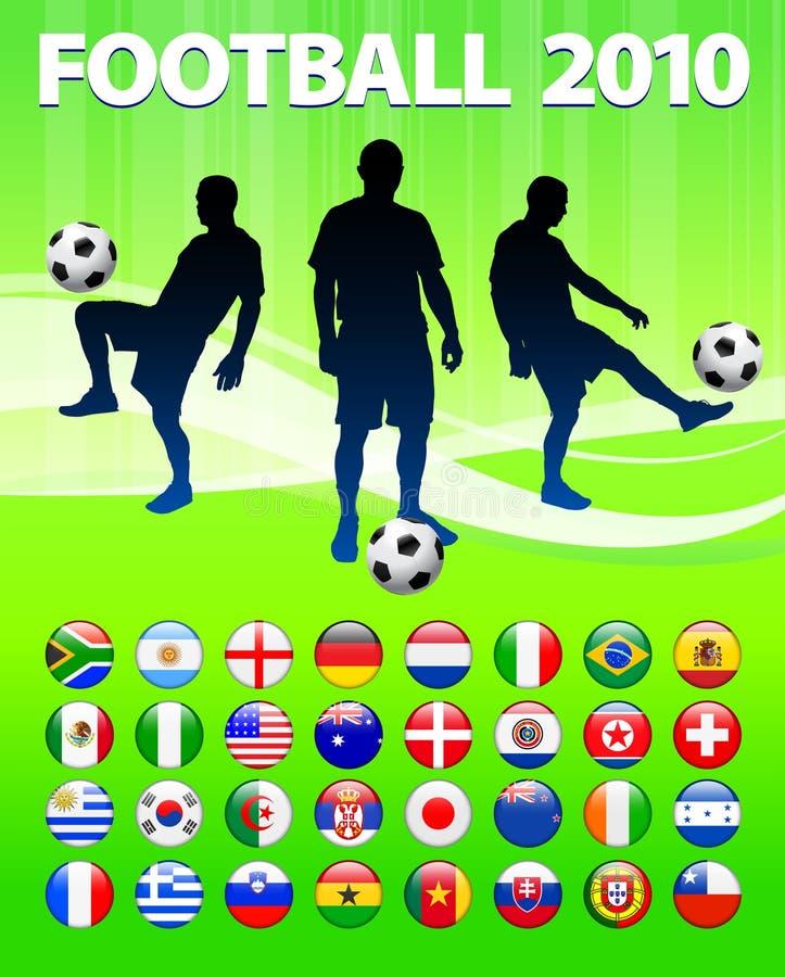 σφαιρικό ποδόσφαιρο αγών&omeg διανυσματική απεικόνιση