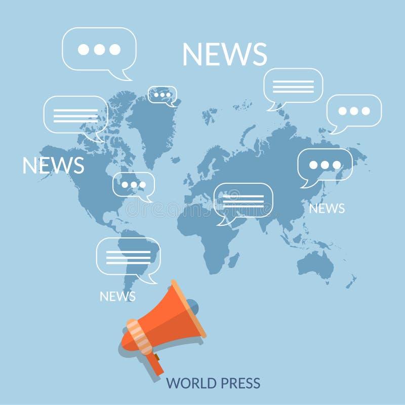 Σφαιρικό σε απευθείας σύνδεση ραδιόφωνο TV τηλεπικοινωνιών έννοιας παγκόσμιων ειδήσεων απεικόνιση αποθεμάτων