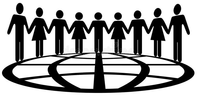 σφαιρικό σύμβολο ανθρώπων διανυσματική απεικόνιση
