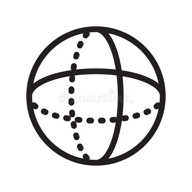 Σφαιρών σημάδι και σύμβολο εικονιδίων διανυσματικό που απομονώνονται στο άσπρο υπόβαθρο διανυσματική απεικόνιση