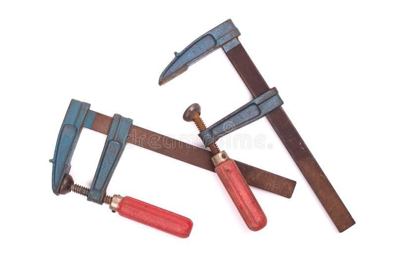 Σφιγκτήρες κόλλας που απομονώνονται στοκ φωτογραφία με δικαίωμα ελεύθερης χρήσης