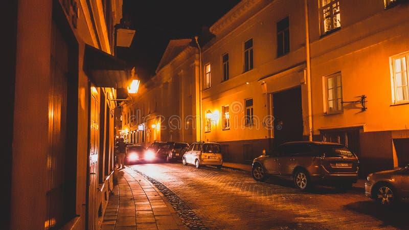 Σφιχτή οδός Uzupis σε Vilnius στοκ φωτογραφία με δικαίωμα ελεύθερης χρήσης