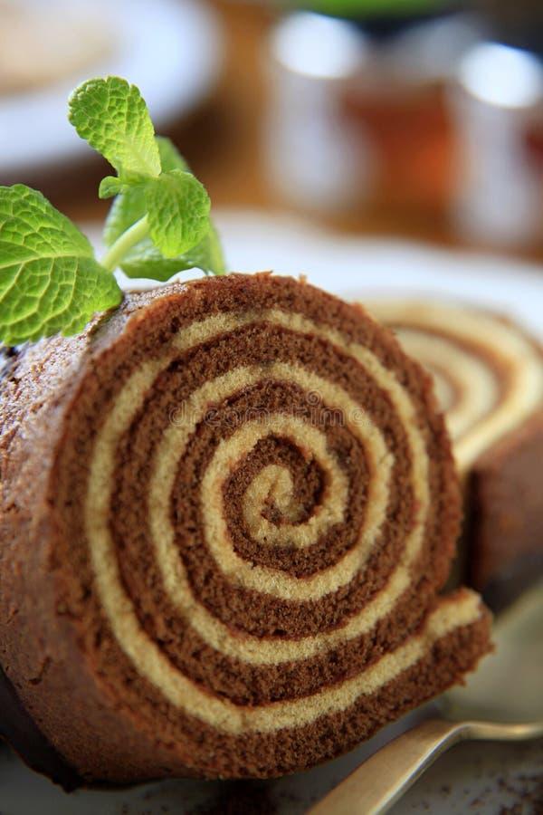 σφουγγάρι ρόλων κέικ στοκ φωτογραφία με δικαίωμα ελεύθερης χρήσης