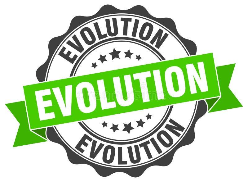 σφραγίδα εξέλιξης γραμματόσημο διανυσματική απεικόνιση