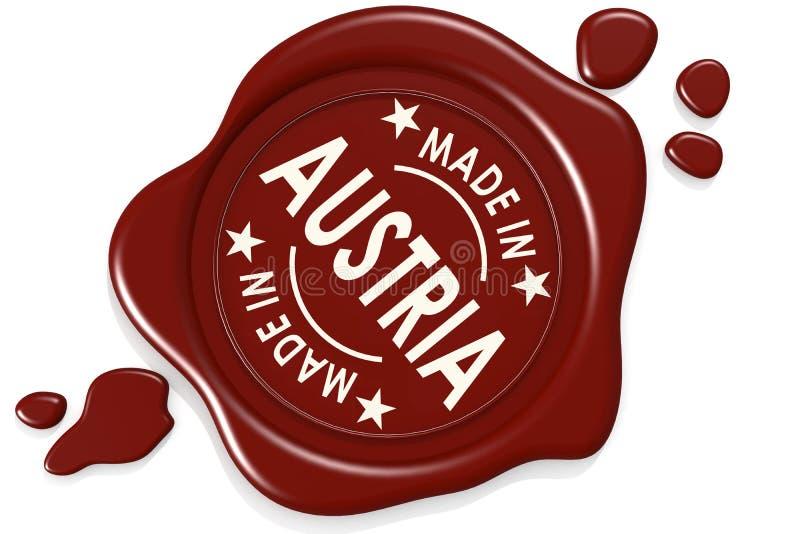 Σφραγίδα ετικετών κατασκευασμένος στην Αυστρία ελεύθερη απεικόνιση δικαιώματος