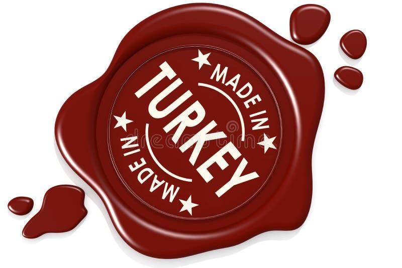 Σφραγίδα ετικετών κατασκευασμένος στην Τουρκία απεικόνιση αποθεμάτων