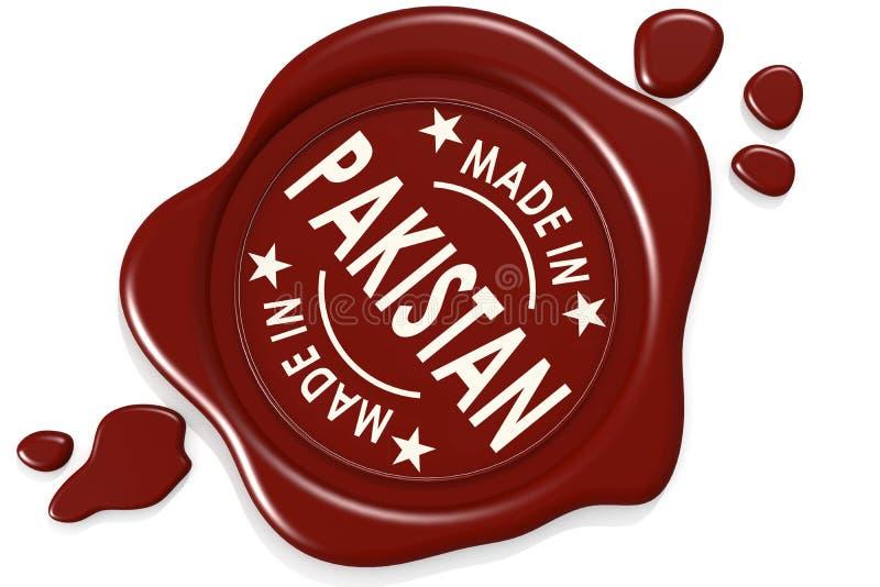 Σφραγίδα ετικετών κατασκευασμένος στο Πακιστάν ελεύθερη απεικόνιση δικαιώματος