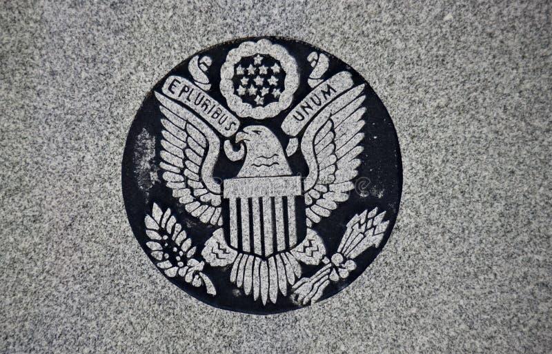 Σφραγίδα Ε Pluribus Unum των Ηνωμένων Πολιτειών στοκ φωτογραφίες
