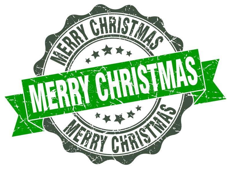Σφραγίδα Καλών Χριστουγέννων γραμματόσημο ελεύθερη απεικόνιση δικαιώματος